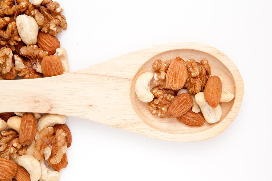 pähkinät lusikassa
